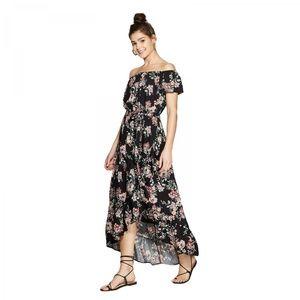 NWT Xhilaration High Low Maxi Dress Small Black
